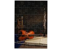 Puzzle Violon, hautbois, trompette, flûte