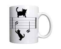 Mug 3 chats sur une portée