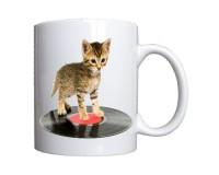 Mug Chat sur disque vinyle