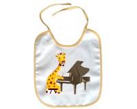 Bavoir Girafe avec un piano