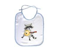 Bavoir Raton laveur avec un banjo