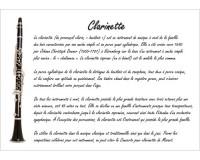 Poster éducatif : la clarinette