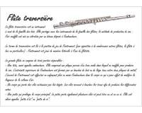 Poster éducatif : la flûte traversière