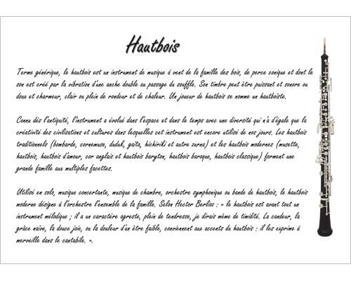 Poster éducatif : le hautbois