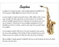 Poster éducatif : le saxophone