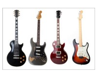 Poster 4 guitares électriques