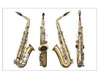 Poster 4 vues du saxophone
