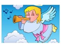 Poster Ange trompettiste