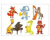 Poster Animaux musiciens