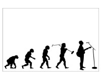 Poster Evolution du chanteur