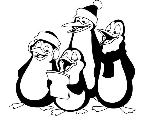 Sticker Chorale de pingouins