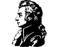 Sticker Portrait de Mozart