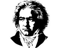 Sticker Portrait de Beethoven