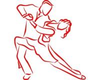 Sticker Couple de danseurs