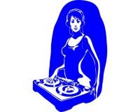 Sticker Fille DJ