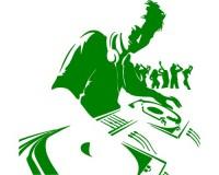 Sticker DJ avec danseurs