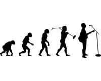 Sticker Evolution du chanteur