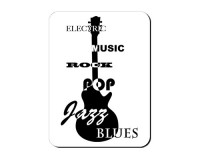 Aimant Guitare jazz, blues, pop