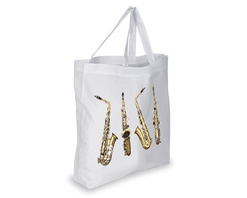 Cabas 4 vues du saxophone