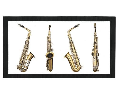Tapis de bar : 4 vues du saxophone