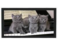 Tapis de bar : Chatons sur un piano