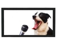 Tapis de bar : Chien chanteur