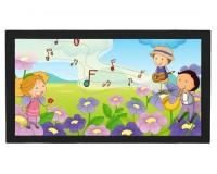 Tapis de bar : Enfants sur des fleurs