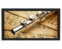 Tapis de bar : Flûte sur des partitions