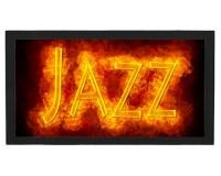 Tapis de bar : Jazz en feu