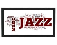 Tapis de bar : Mots anglais sur le jazz