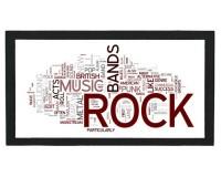 Tapis de bar : Mots anglais sur le rock