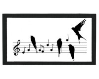 Tapis de bar : Oiseaux sur une portée
