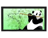 Tapis de bar : Panda flûtiste