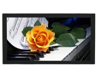 Tapis de bar : Piano, rose orange, partition