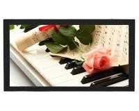Tapis de bar : Piano, rose rose, partition