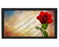 Tapis de bar : Rose devant partition