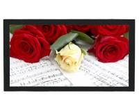 Tapis de bar : Roses sur des partitions