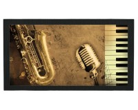 Tapis de bar : Saxophone, micro, clavier
