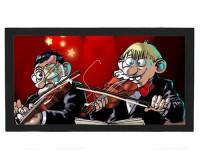Tapis de bar : Violonistes