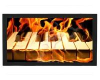 Tapis de bar : Clavier de piano en feu