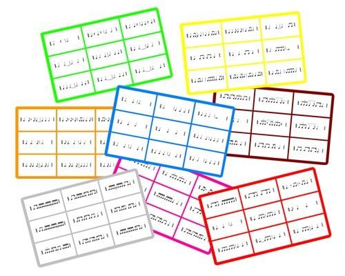 Jeu de loto : Rythmes binaires et ternaires (cartes supplémentaires)