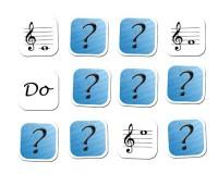 Jeu de mémoire : 12 notes en clé de sol et nom des notes