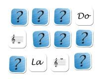 Jeu de mémoire : 24 notes en clé de sol et nom des notes