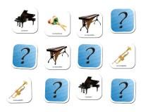 Jeu de mémoire : Les instruments de musique