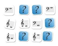 Jeu de mémoire : 12 notes en clé de sol et 12 notes en clé de fa